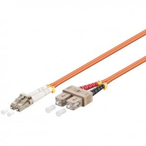 LC - SC Multimode Duplex Fibre Patch Cable (OM2 - Orange)