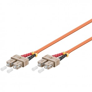 SC - SC Multimode Duplex Fibre Patch Cable (OM2 - Orange)